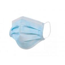 Маска медицинская одноразовая 3сл голубая