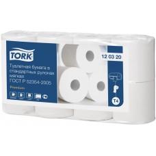 Tork туалетная бумага в стандартных рулонах мягкая 120320 T4 2сл 23м