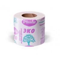 Plushe Туалетная бумага EcoPlushe (115гр), 35м, 1 слой, серая, втулка, 30 в уп