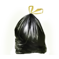 Мусорные мешки с завязками ПНД 60л(15шт. в ролике) 12мкм