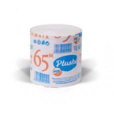 Туалетная бумага Plushe EcoPlushe 65м, 1слой, серая, б/втулки, 32 в уп